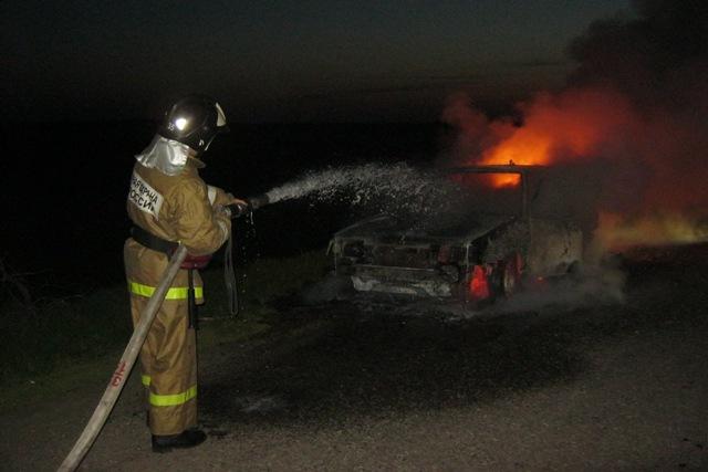 пожар машина