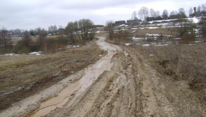 разбитая дорога, грязь