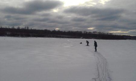 лед провалился