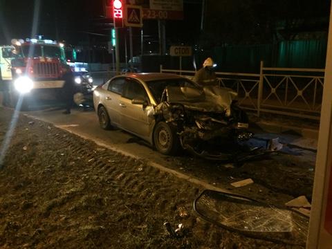 ВОрле шофёр иномарки протаранил автомобиль «скорой помощи»
