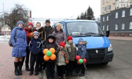 многодетная семья, автобус