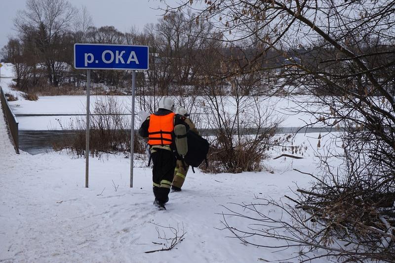 Ока, провалился под лед