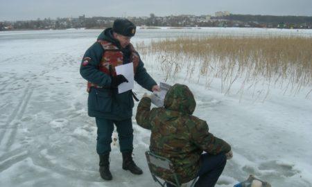 лёд рыбаки