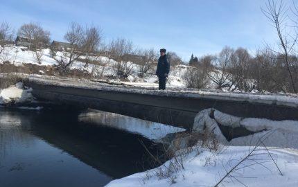 паводок, мост