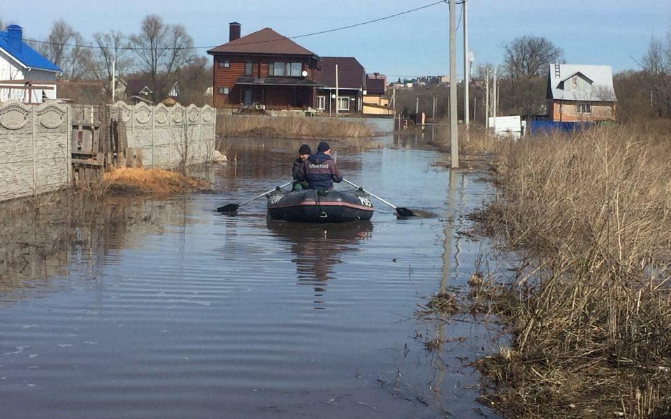 лодка, паводок