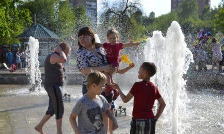 Детский парк, фонтан
