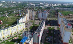 Орелстрой, микрорайон, вид, город с высоты