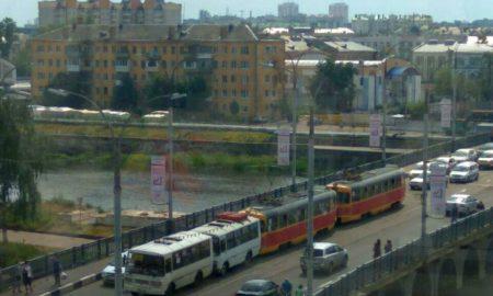 паровозик, ПАЗ, трамвай