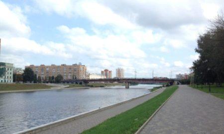 красный мост, облака, погода