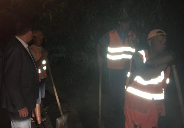 ночной ремонт дорог, васильевская