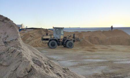 песок и соль, песко-соляная смесь