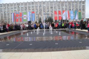 фонтан, площадь содружества