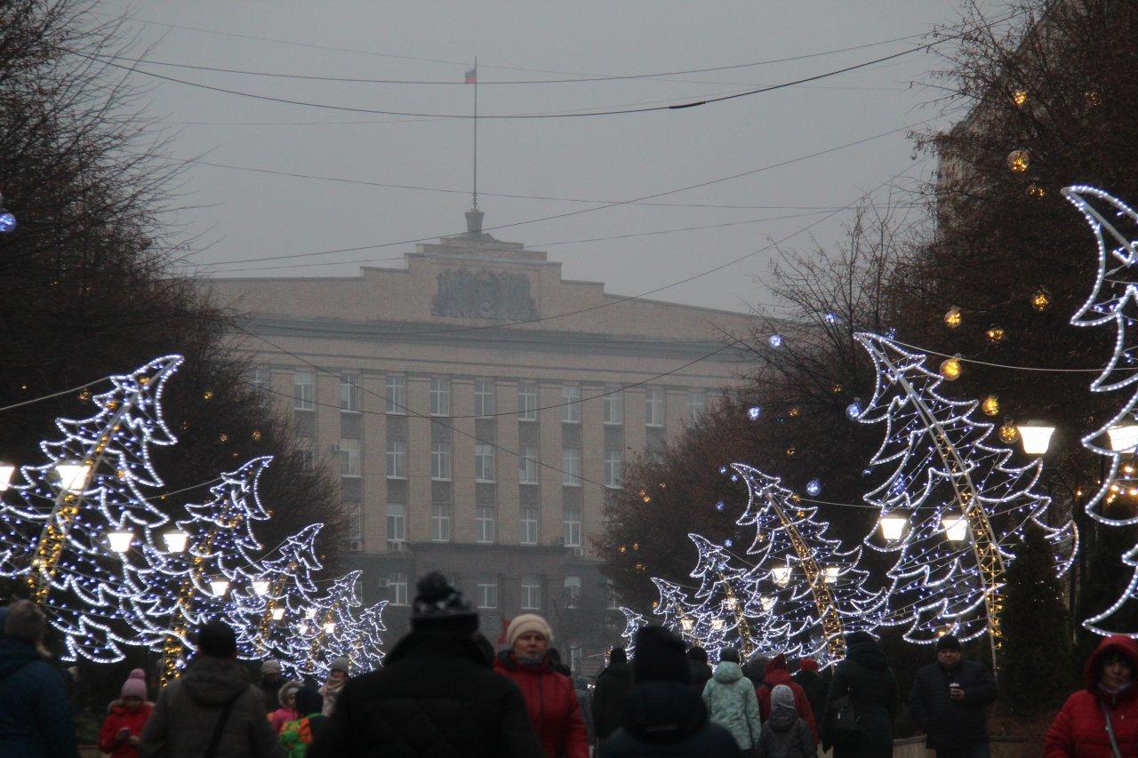 иллюминация, улица ленина, ленинская, елки, фонарики, украшение