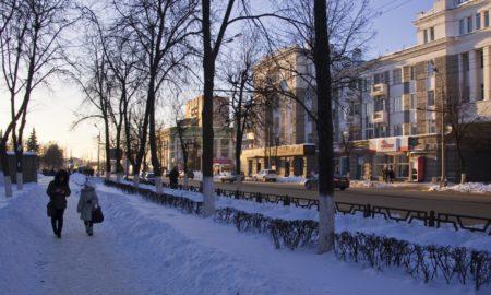 орёл, улица, снег, погода, сквер танкистов, зима