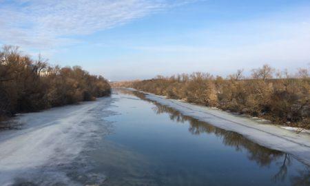 Ока, лед, погода, река