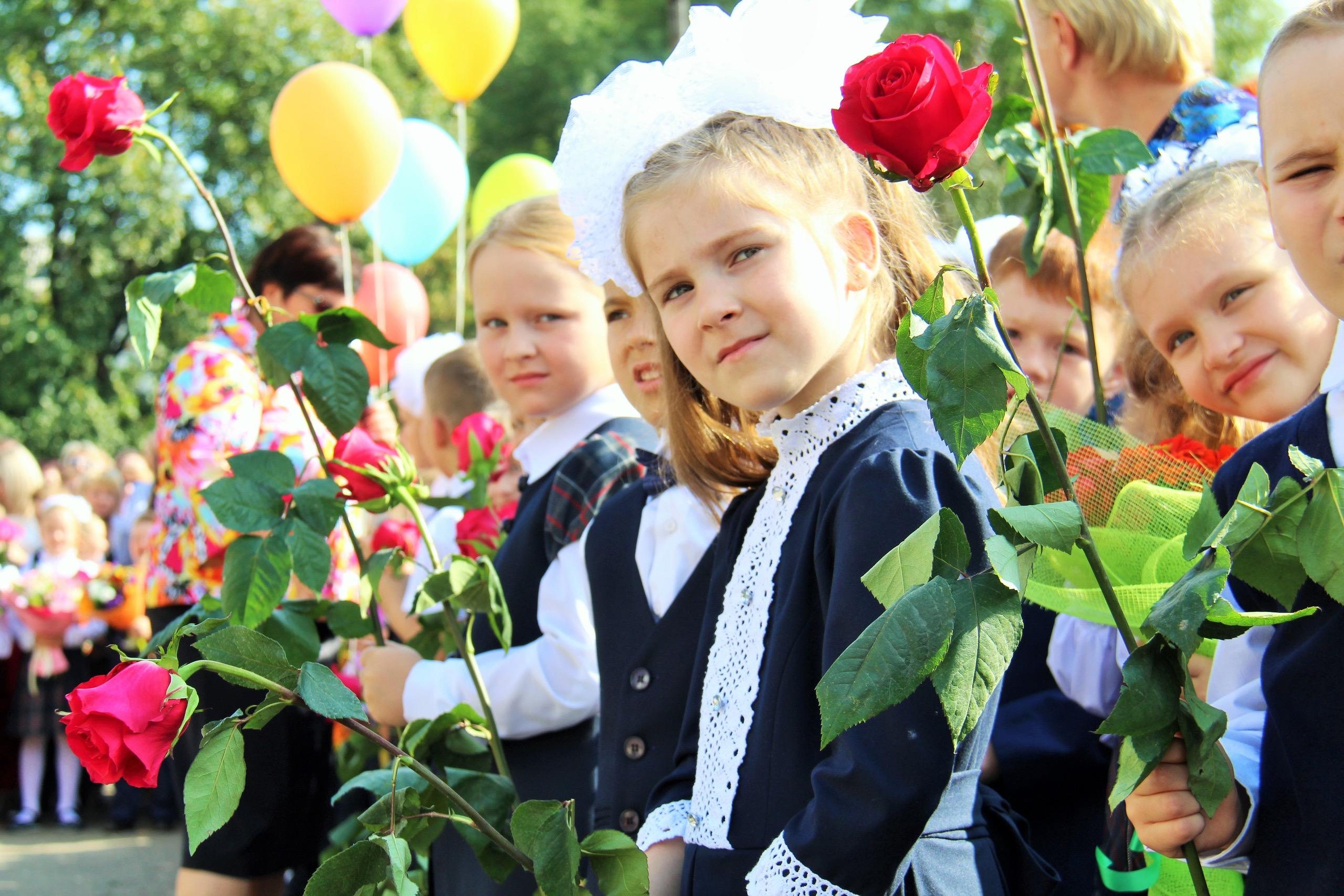 школьники, день знаний, 1 сентября
