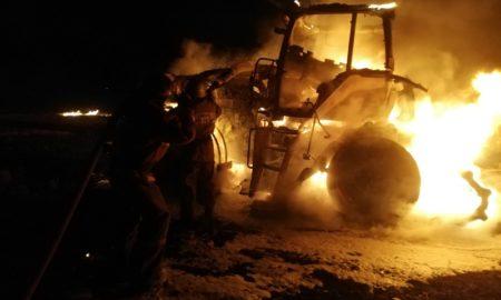 трактор пожар
