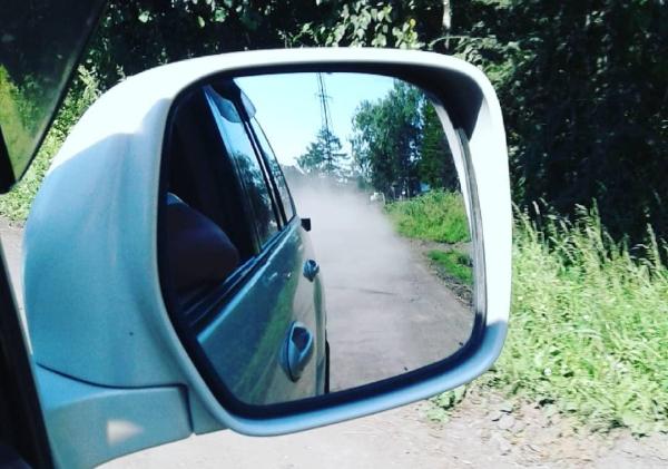 пыль, машина, зеркало