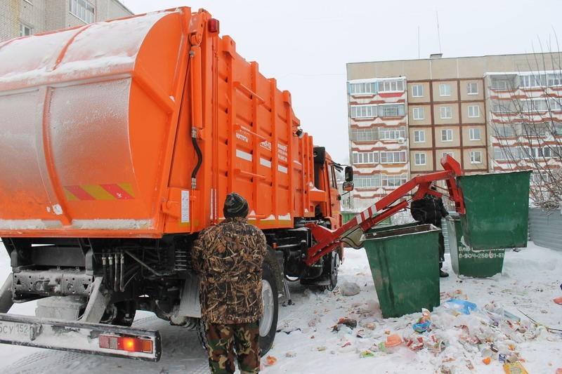мусор зима