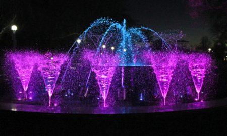 фонтан, городской парк
