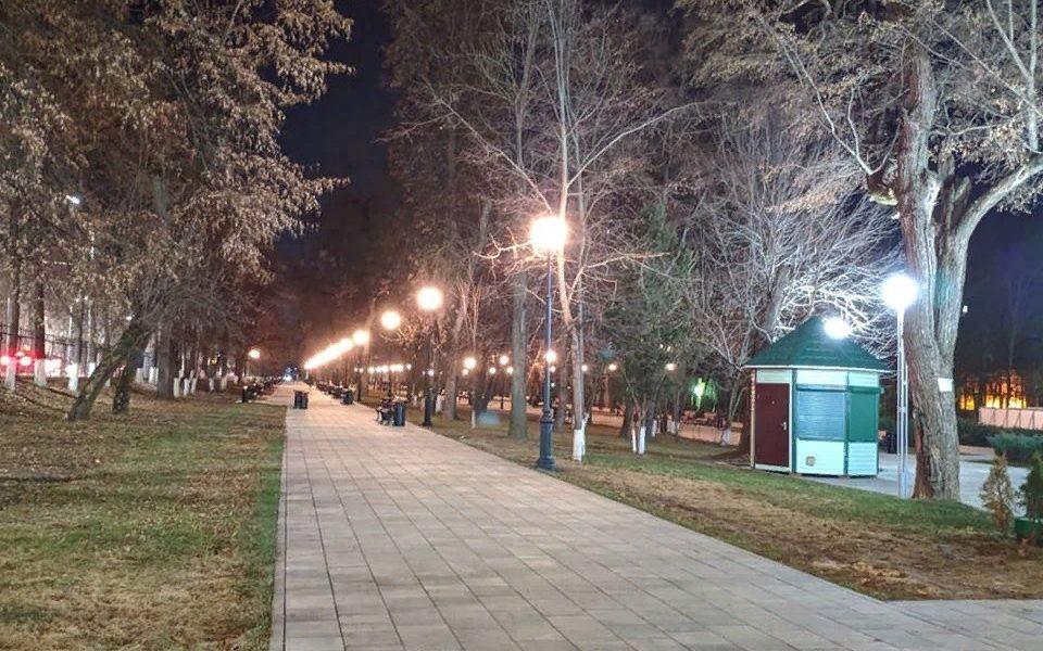парк, освещение, благоустройство