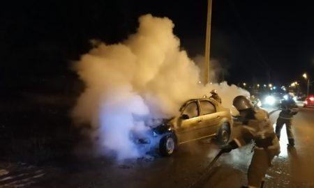 сгорел автомобиль, пожар