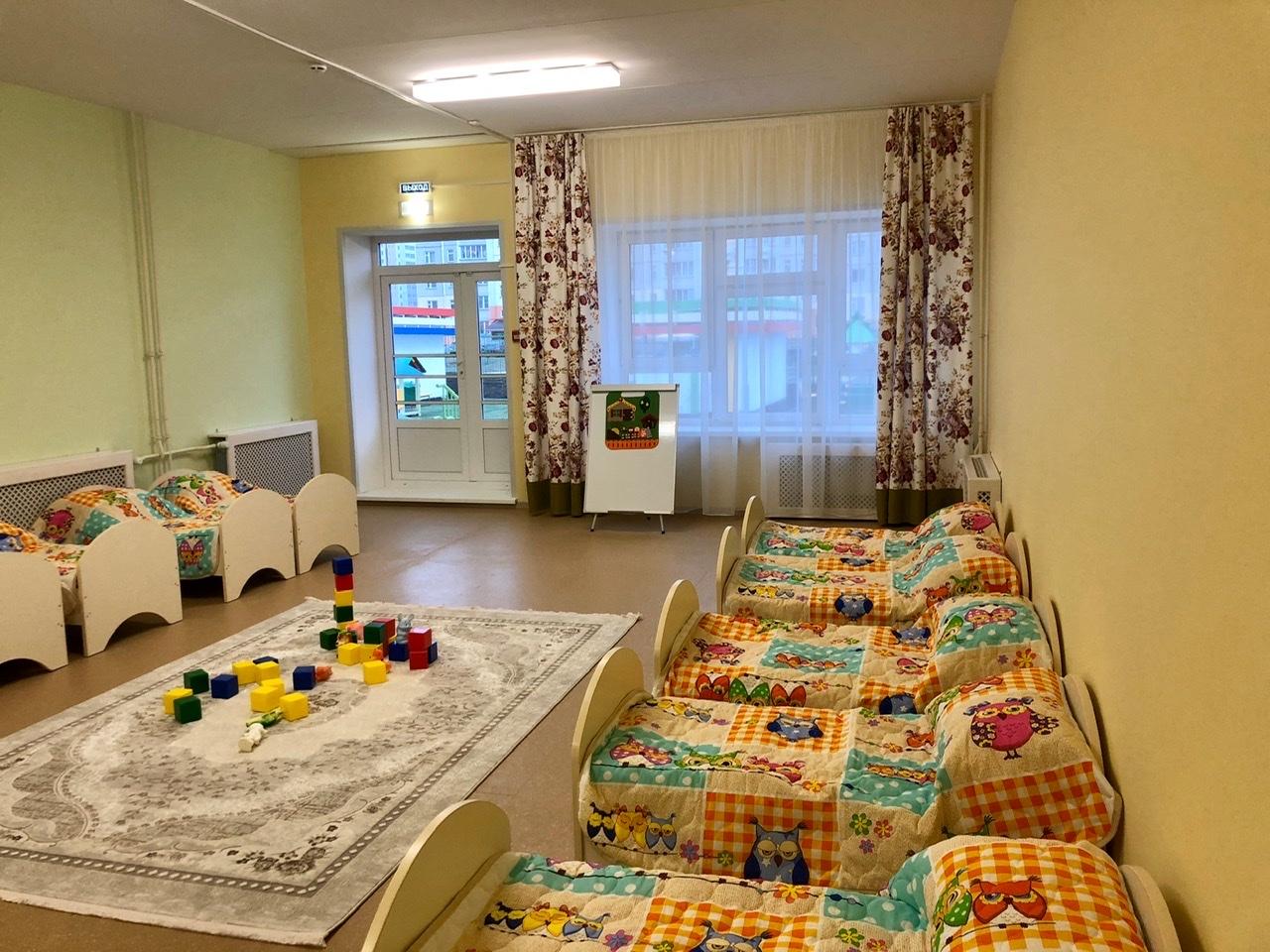 детский сад, кровати, группа