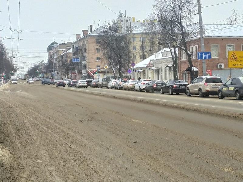 Орёл, улица, машины, Герцена