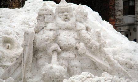 фигура из снега